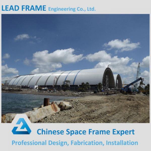 Grid frame vaulted coal storage shed #1 image