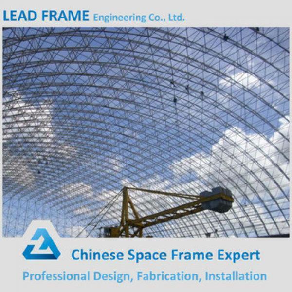 flexible customized design prefabricated barrel coal storage steel structure shed design #1 image