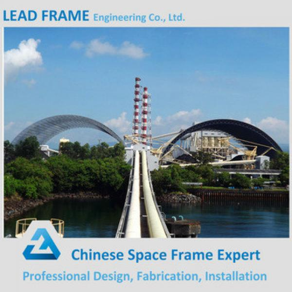 Light weight steel space frame building for barrel coal storage #1 image