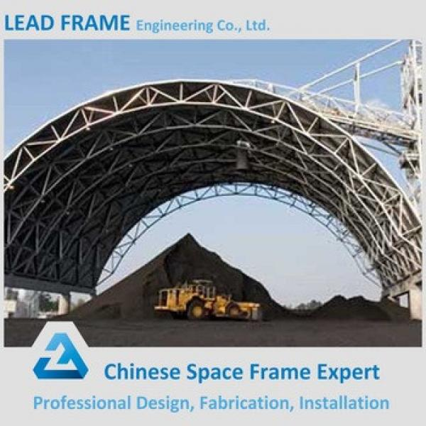 Steel roof covering space frame arched coal storage shed #1 image