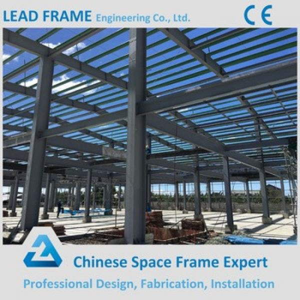 High quality double slopes prefabricated steel frame workshop #1 image