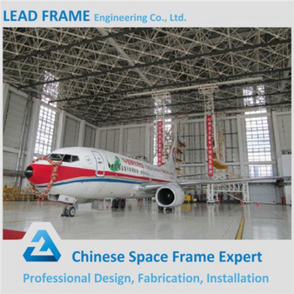 Windproof Customized Space Frame Steel Aircraft Hangar Buildings for Sale #1 image