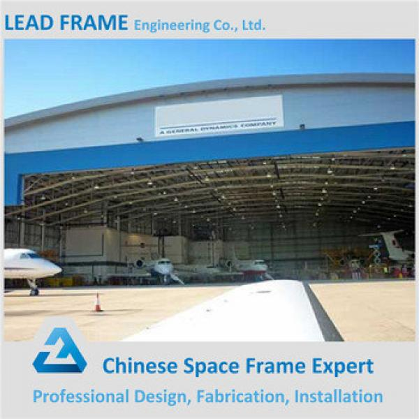 anti-seismic metal roof steel structure arch aircraft hangar #1 image