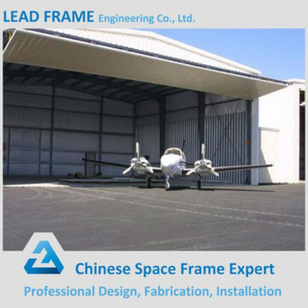 low cost steel structure space frame for airplane hangar construction #1 image