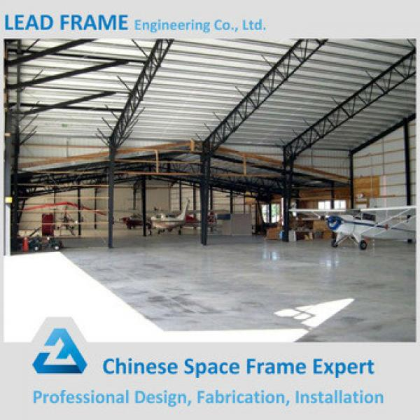 Economic light steel frame prefabricated modular aircraft hangar #1 image