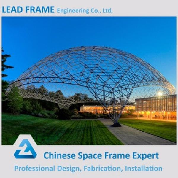 insulated windproof high rise large span steel roof dome structure #1 image