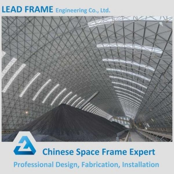 Prefabricated Barrel Steel Space Frame for Bulk Storage Shed #1 image