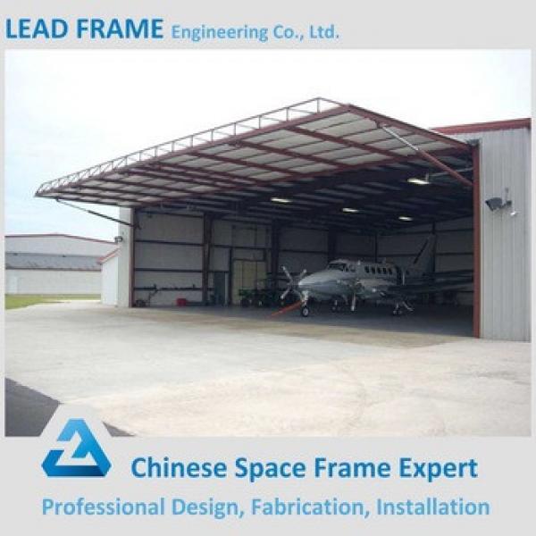 Light weight prefabricated steel frame airplane hangar #1 image