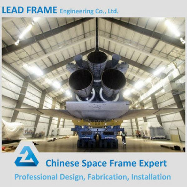 classic and typical design steel structure space frame for airplane hangar construction #1 image