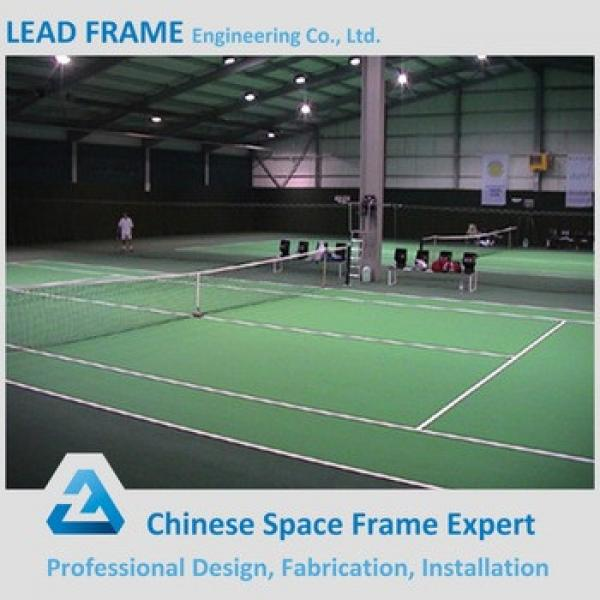 Steel space frame structure roof for tennis court #1 image