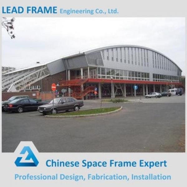 Prefabricated steel space frame tennis court roof #1 image