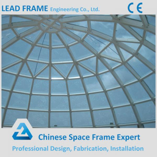 Prefab space frame dome glass roof with metal structure #1 image