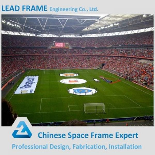 High Rise Windproof Light Frame Stadium Roof Steel Shade Structure #1 image