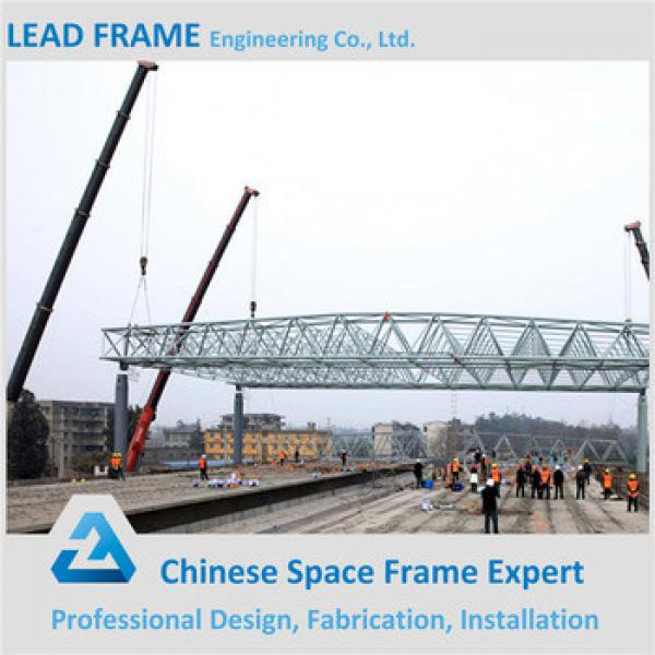 High quality prefabricated steel structure space frame arched roof truss #1 image