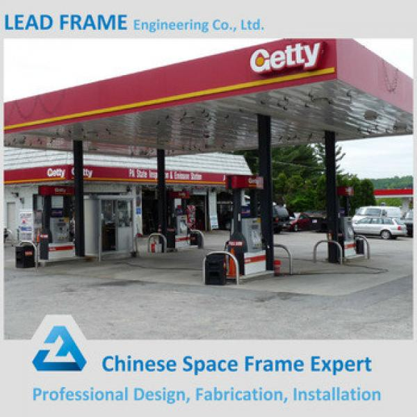 Prefab Light Steel Structure Construction Cost of Gas Station Canopy #1 image