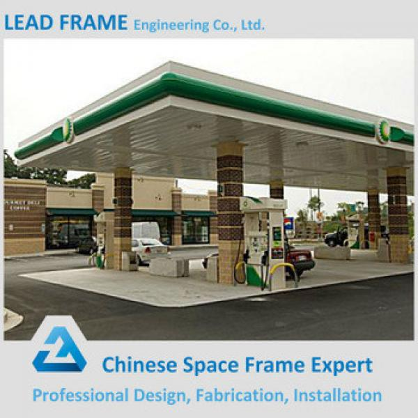 Galvanized steel space frame structures construction petrol station design #1 image