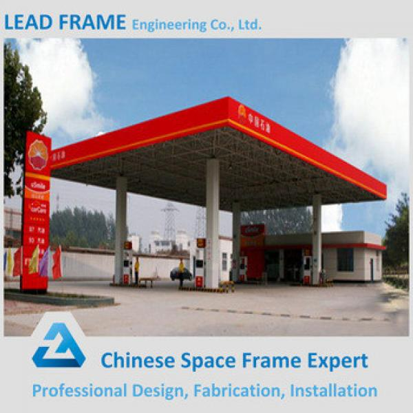 Galvanized steel petrol station roof by space frame #1 image
