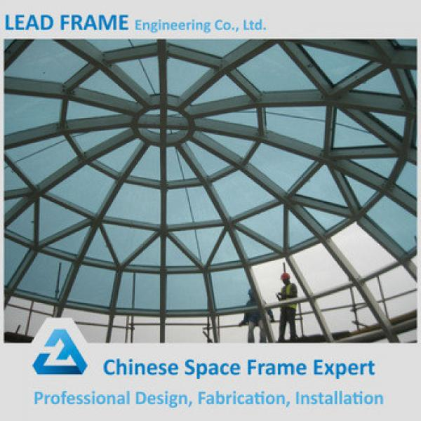 Light steel space frame glass atrium roof #1 image
