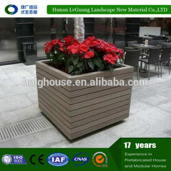 Recycled backyard outside hollow composite wpc decking wooden flower pot #1 image