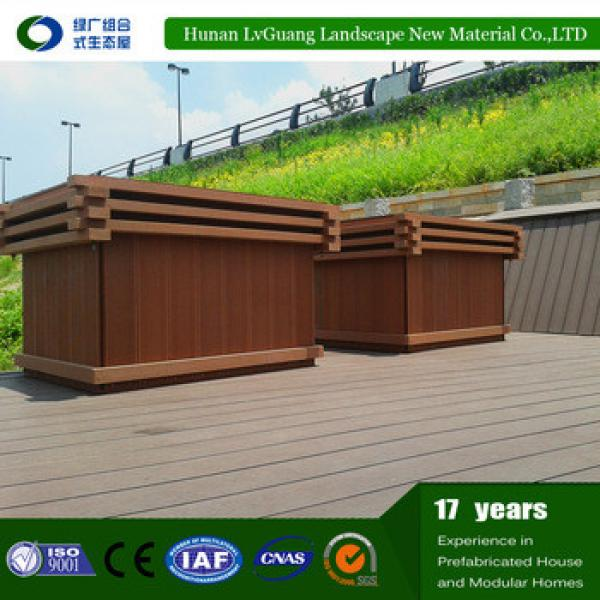 Outdoor Rectangular flower box wood planter boxes #1 image