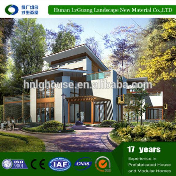 Low cost villa modular home design prefab homes for family #1 image