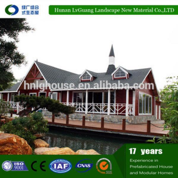 Environmental Friendly WPC Prefab wooden house bungalow #1 image