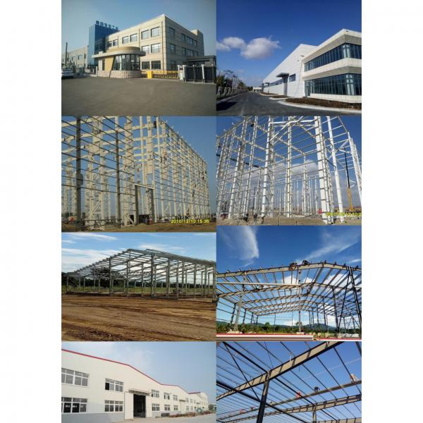 Prefabricated steel building construction sheds car showroom steel structure truss purlin #2 image