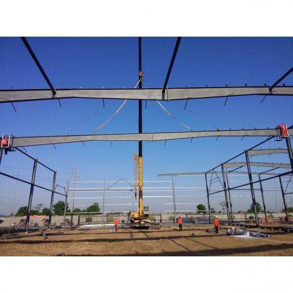 Good quality steel structure warehouse beautiful steel structure workshop #7 image