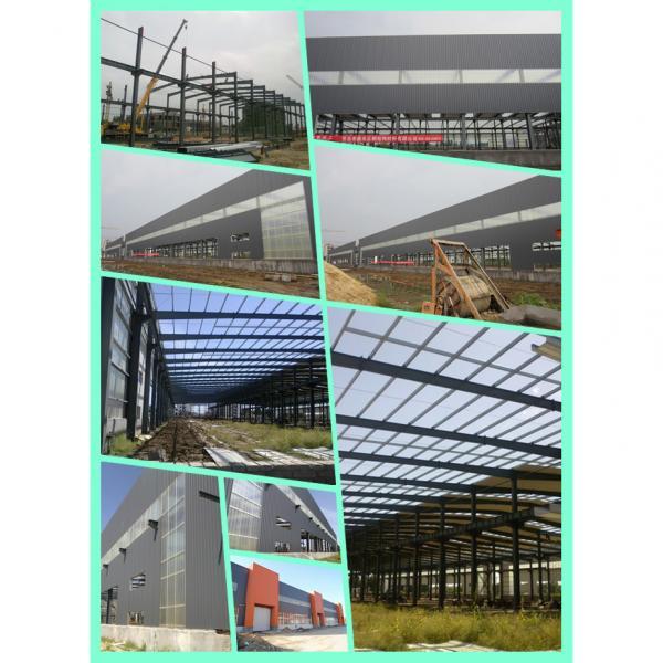 Corrugated light steel garage prefabricated workshop steel structure workshop for construction #4 image