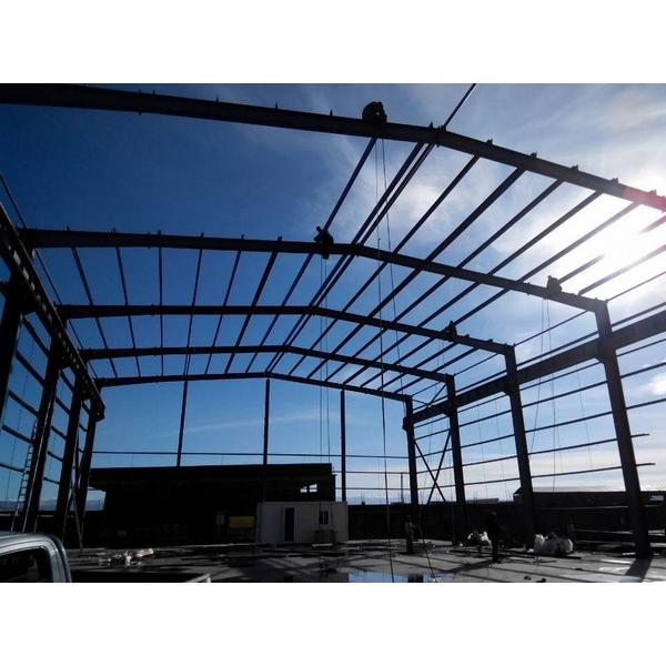 Fast construct Portable Steel structure prefabricated rice plant #2 image