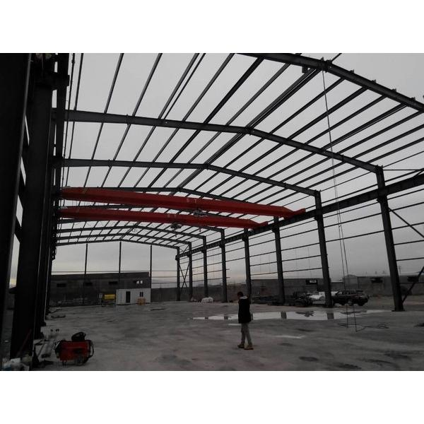 Steel support structure warehouse prefab house #3 image