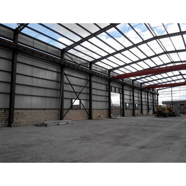 Steel support structure warehouse prefab house #4 image