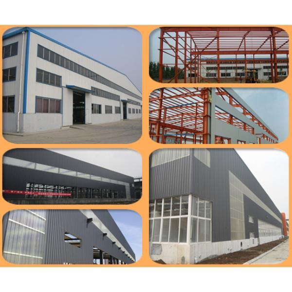 long span prefab steel structure waterproof storage shed #4 image