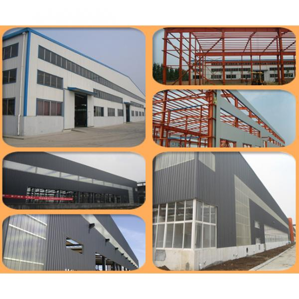 Prefab steel frame sandwich warehouse building design #4 image