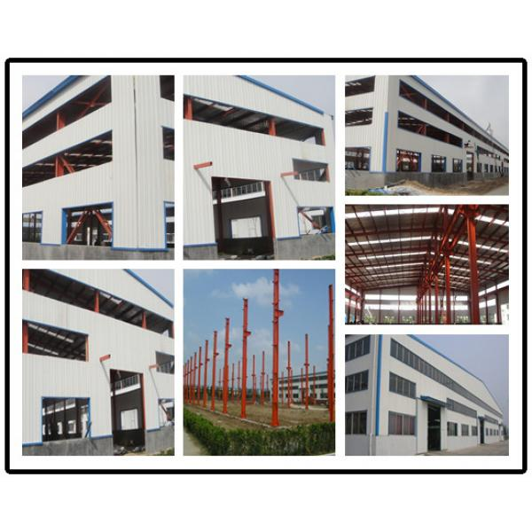 galvanized color steel space frame prefabricated arched hangar #2 image