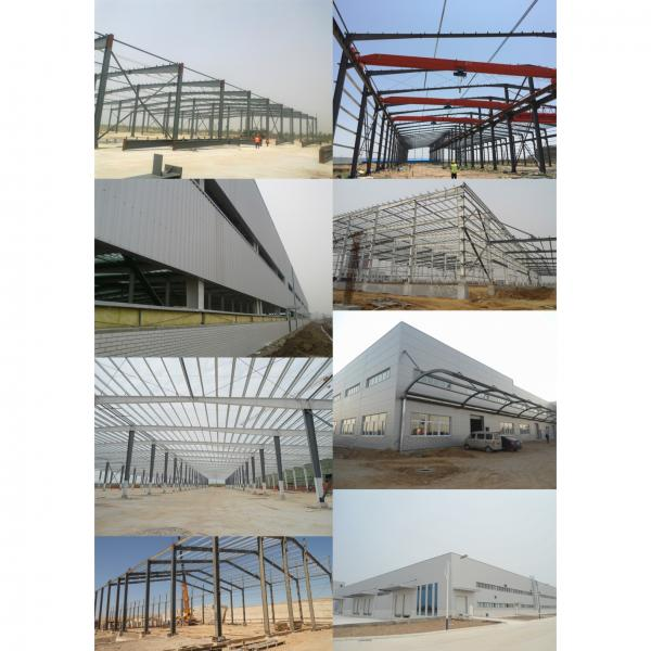 Good insulation and light color warehouse steel frame structure/steel frame/poutry shed/garage #3 image